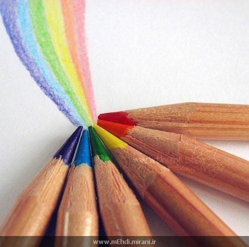 مداد رنگی و خدا